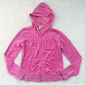 Lilly Pulitzer Pink Velour Hooded Jacket